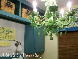 apple green painted chandelier plastic chandelier