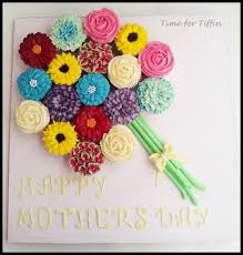 Mothers Day Cupcake Bouquet Cake By Time For Tiffin Cakesdecor