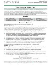 Free Resume Sample Hair Stylist Resume Sample Monster Com