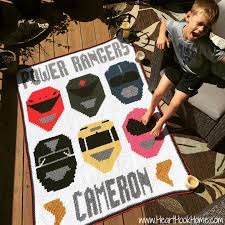 Power Rangers Graph Pattern For Graphghan Heart Hook Home