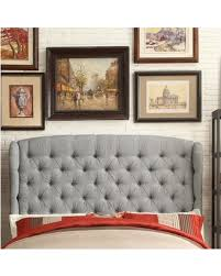 Wingback upholstered headboard King Leatham Upholstered Wingback Headboard Upholstery Gray Size King Better Homes And Gardens Score Big Savings Leatham Upholstered Wingback Headboard Upholstery