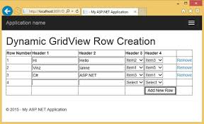 dynamically adding and deleting rows in