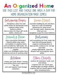 Home Organization Chart Free Printables To Help You Organize Every Aspect Of Your