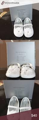 Stuart Weitzman Baby Shoe Size Chart Stuart Weitzman White Patent Leather With Flower Brand New