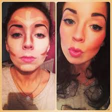 cheek contour before and after. contouring before and after cheek contour