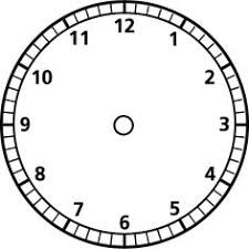 Printable Clock Templates | Blank Clockface: Without Hands | Clock ...