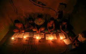 lighting without electricity. in a madrasa the outskirts of new delhi muslim girls study under candle light reuters lighting without electricity