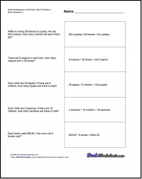 division worksheets ks2 multiplication and tes long with answers word problems bus stop method worksheet teaching