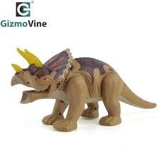 Triceratops Light Gizmovine Electric Dinosaur Toy Walking Triceratops Light Action Figure Kids Making Fun Animal Model Toys Best Gift For Children