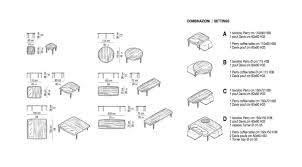 coffee table size awesome dimensions for sofa rel
