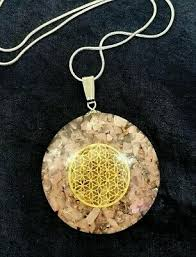 flower of life rose quartz orgone