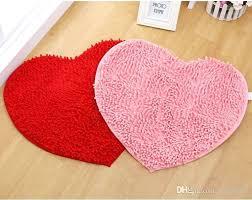 heart shaped rug cute love heart shaped non slip soft microfiber chenille fluffy bathroom bedroom floor