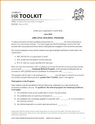 Cover Letter Referral 8 Employee Referral Letter Memo Templates