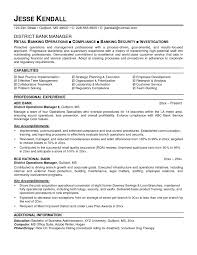 Banker Resume Template
