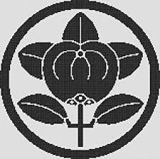Amazon クロスステッチ刺繍用図案 日本の家紋シリーズ丸に橘紋