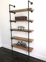 ... Captivating Industrial Bookcases Industrial Bookcase Ikea Brown  Bookcases With Black Metal And Decorations: ...