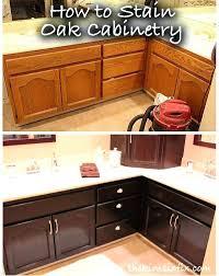restaining kitchen cabinets staining dark brown oak darker