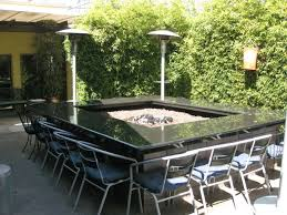 Patio Ideas Outdoor Dining Table Fire Pit With Round Metal Patio