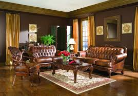 Leather Sofa Living Room Brown Leather Sofa Stylish Modern Brown Upholstery Leather