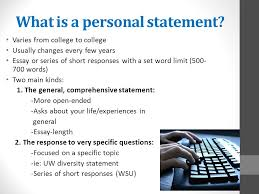 writing personal statements what is a personal statement varies  2 what