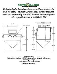Clemco Industries Blast Cabinets Shop Mate Suction Blast Cabinet Abrasive Blasting Equipment