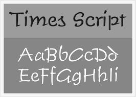 times script alphabet stencil
