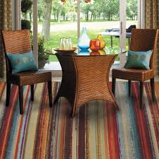breathtaking rainbow kohls rugs under wicker rattan chairs and wicker table glass top near alluring slide glass door