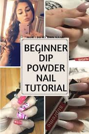 diy dip powder nails beginner tutorial