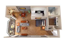 Ambassador Apartments Floor Plans Columbia Plaza - Studio apartment floor plans 3d