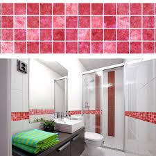 5m bathroom tile wall sticker pvc kitchen mosaic waist line adhesive wall paper