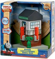 Fisher Price Wooden Railroad Maron Lights Sounds Signal Shed Fisher Thomas The Train Wooden Railway Maron Lights And Sounds Signal Shed