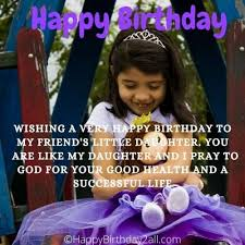 birthday wishes for friends daughter