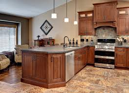 Trim Under Cabinets Minnesota Peninsula Kitchen Has Cherry Cabinets In A Traditional
