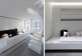 Schwarz Weiß Einrichten Wohnung Luxus Minimalistische Einrichtung Klappbett