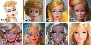 ini wajah barbie dari masa ke masa cantik mana
