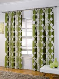 halo panama green pencil pleat curtain