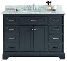 48 moana gray bathroom vanity with white marble top undermount sink