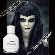 scary wicked witch makeup set of 3 miss pouty white liquid foundation stargazer
