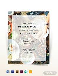dinner template dinner flyer template dinner party flyer template in adobe