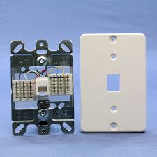 2 of 6 leviton white quickconnect wall mount type 630a telephone jack 40263 w