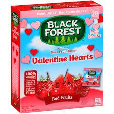 Valentine Fruit Black Forest Red Fruits Valentine Hearts Fruit Snacks 28 Ct 224