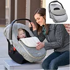 details about car seat cover weather resistant warm canopy for babies infant carriers grey