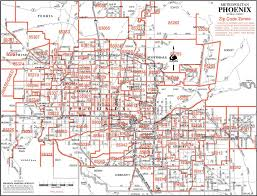 phoenix zip code map  afputracom