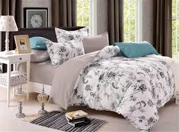 classic home textile dark color flower series bed linens 3 bedding sets cotton bed set duvet cover bed sheet mans cover set grey twin comforter blanket set