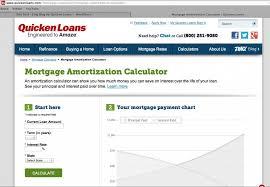 Amotization Calculator Mortgage Amortization Calculator Quicken Loans Zing Blog