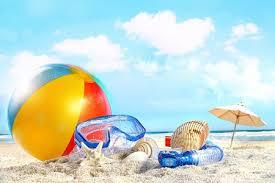 Beach ball in sand Summer Beachballandsandjpg Vectorstock Index Of wpcontentuploads201805