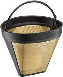 Coffee permanent filter coffee filter gold filter metal strainer stainless steel. Amazon Com Cilio 4017166116007 Coffee Filter Size 4 Gold One Kitchen Dining