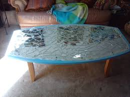 replacement broken shattered glass coffee table ceramics mirror stained unique wooden hardwood