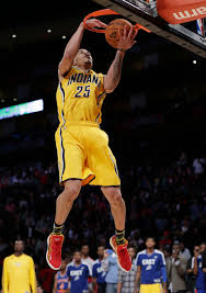 gerald green of the indiana pacers competes in the dunk during nba basketball all