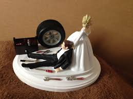 Wedding Cake Topper Funny Romantic Elegant Bride Groom Toppers For